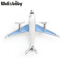Wuli Bayi Merah Biru Enamel Tempur Pesawat Bros Wanita Pria Paduan Pesawat Kasual Partai Bros Pin Tahun Baru Hadiah(China)