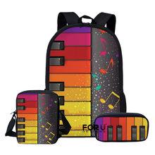 Forudesigns crianças sacos de escola conjunto para adolescentes meninos meninas nota música mochilas piano livro saco crianças ombro mochila escolar(China)
