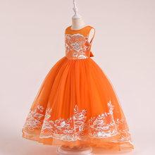 Летние Детские платья для девочек-подростков 2020, праздничные Свадебные платья для девочек, кружевное платье для выпускного вечера, длинное ...(China)