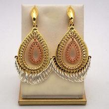 Kristal altın düğme küpe kolye yeni tasarım kadınlar dangle küpe damla küpe(China)