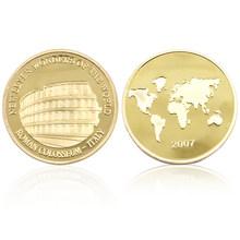 Juego de monedas de oro de 24k de las maravillas de Jordan, oro de 24 k, monedas de Metal chapadas en oro, regalos de cumpleaños para niños, juguete, monedas réplica(China)
