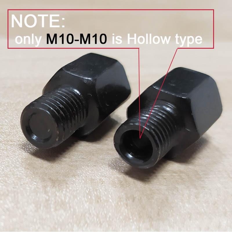 Color : M8M10 RR and RL Espejo Negro par de Motos adaptadores M10 M8 10MM 8MM Espejos retrovisores Conversi/ón Tornillo hacia la Derecha Anti-Reloj de Rosca Izquierda Derecha XFC-MTC