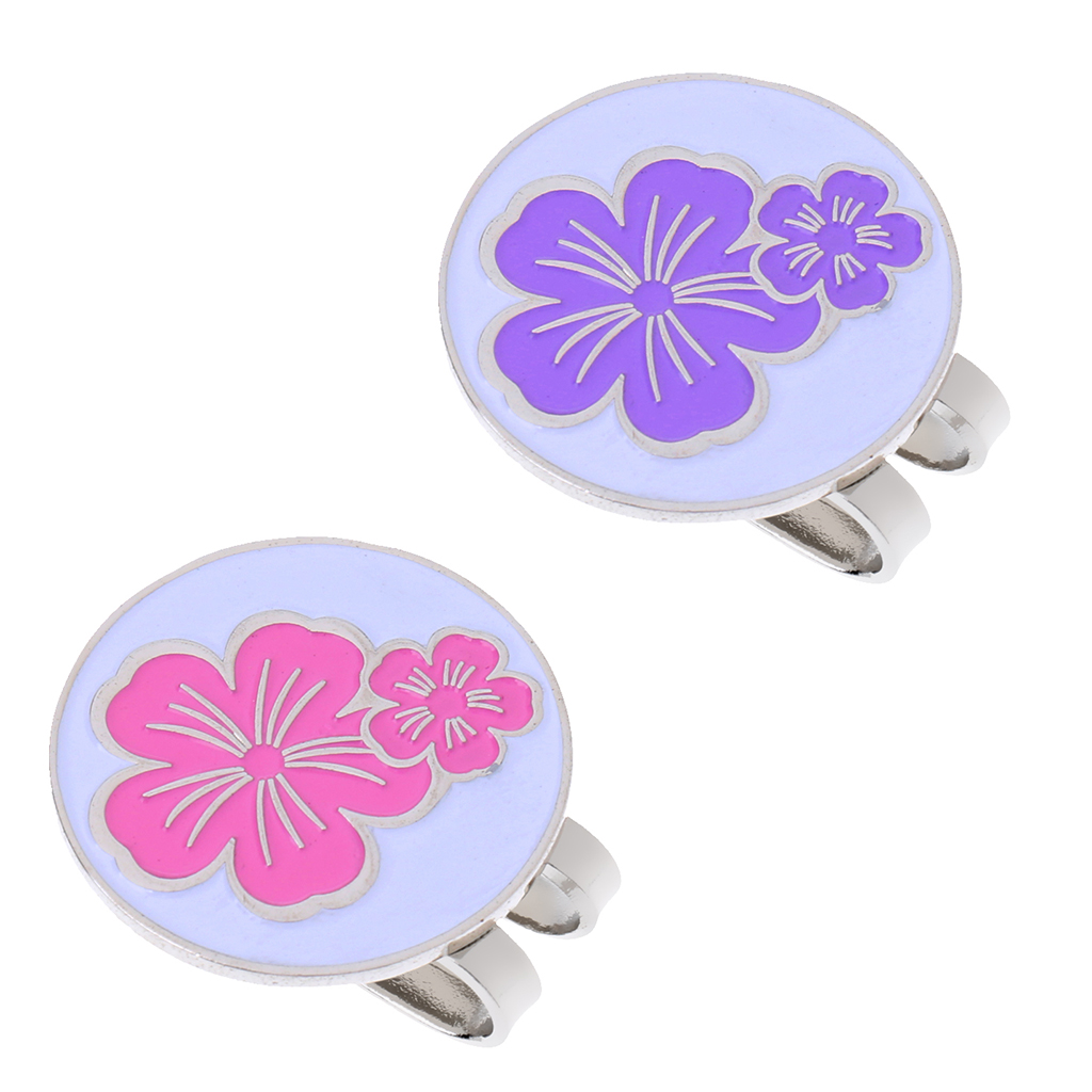 2 Pack Golf Ball Marker with Detachable Hat Clip Brooch Training Aids Golfer Gift Club Giveaways Souvenir