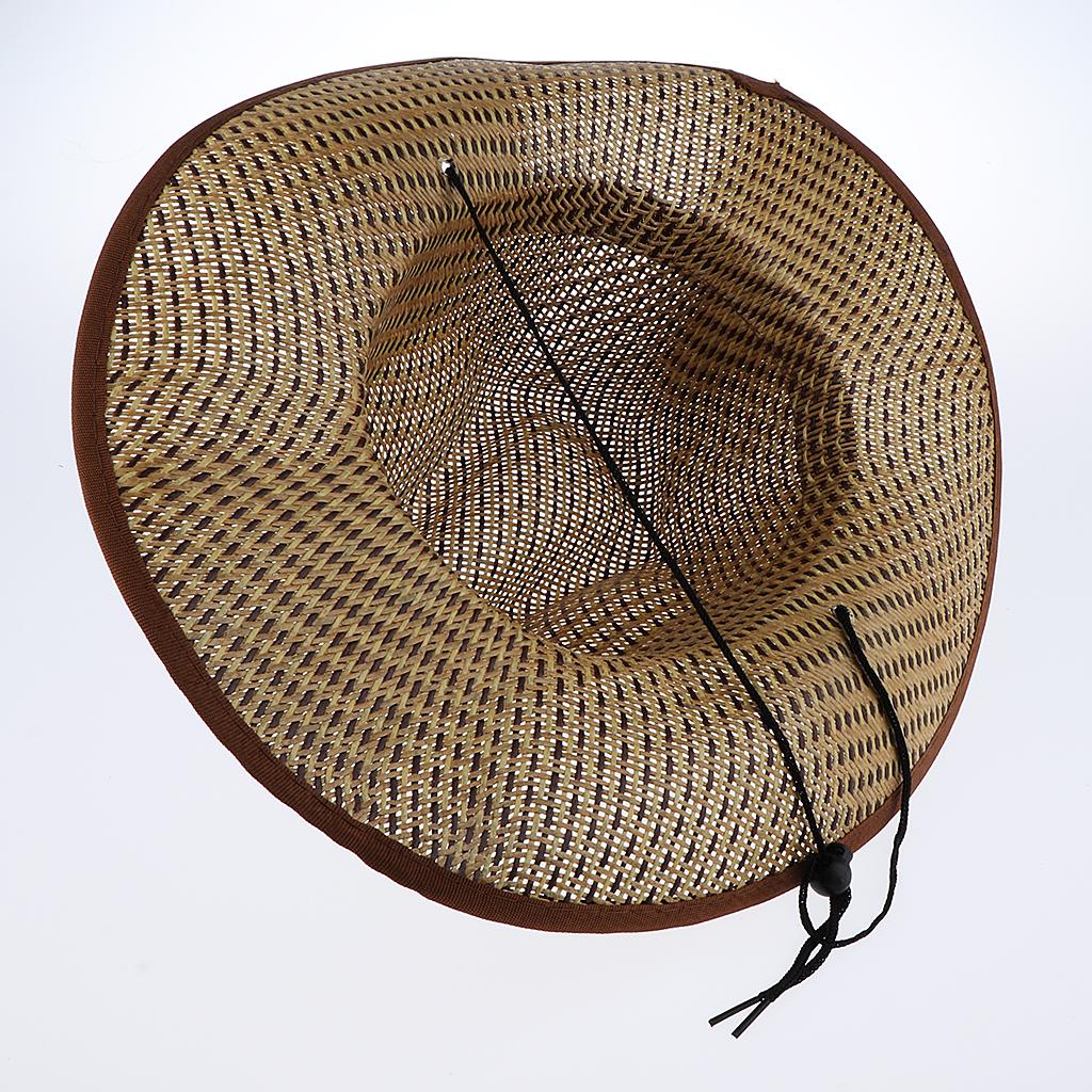 Unisex Summer Holiday Western Cowboy Cap Vintage Straw Hat Fashion Fedora Beach Hawaii Travel
