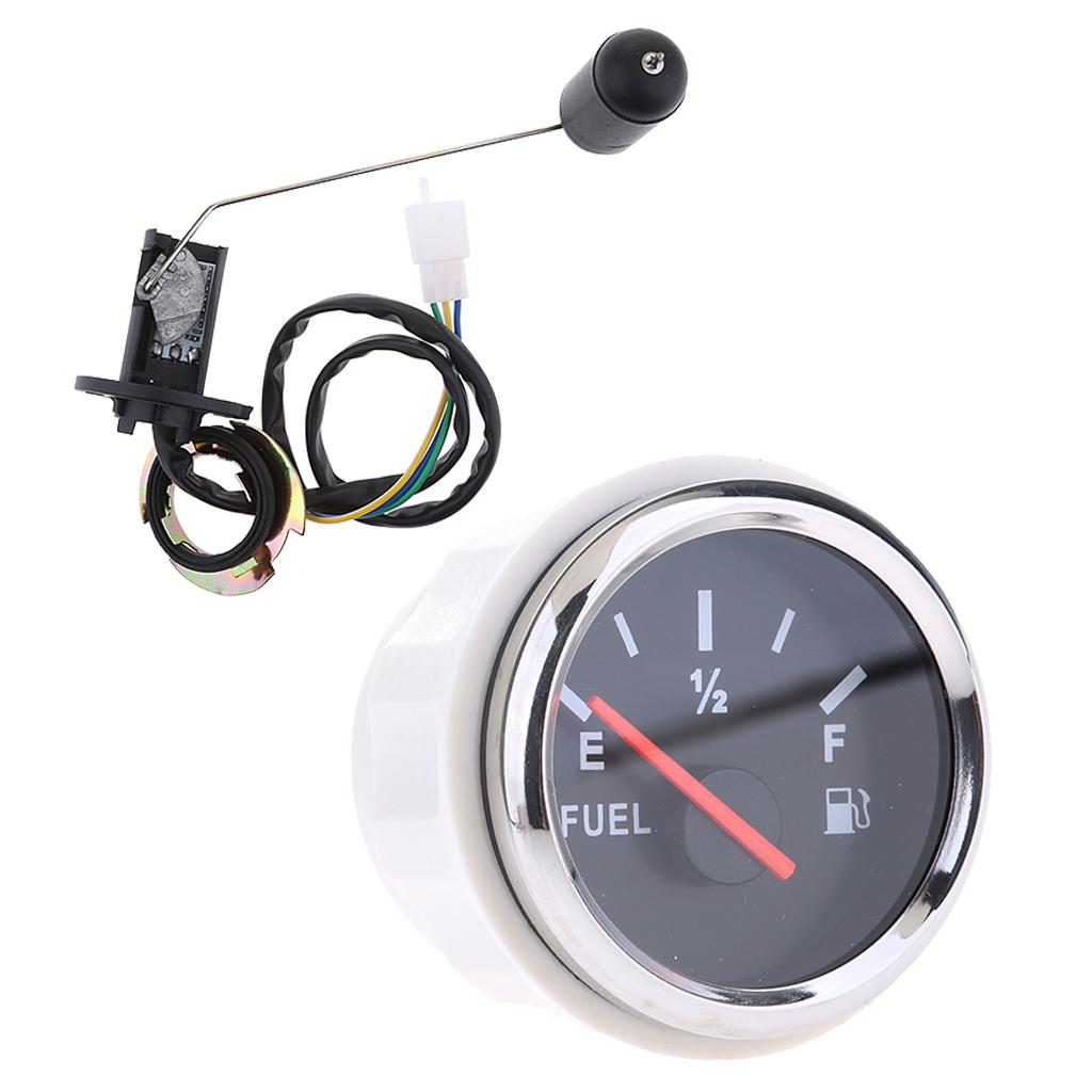1 Set 52mm 12V Car Fuel Level Gauge Meter Fuel Sensor Sender Unit Kit - UNIVERSAL FIT