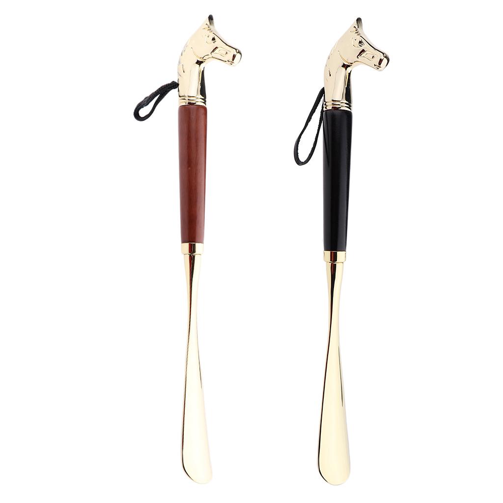 Metal Shoe Horn Handle Long Remover Shoehorn Handheld Durable Shoeshorn 32cm