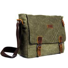 Scione мужской холщовый портфель, сумка на плечо, винтажные парусиновые сумки, модные текстильные сумки через плечо для мужчин, сумка-мессендж...(China)