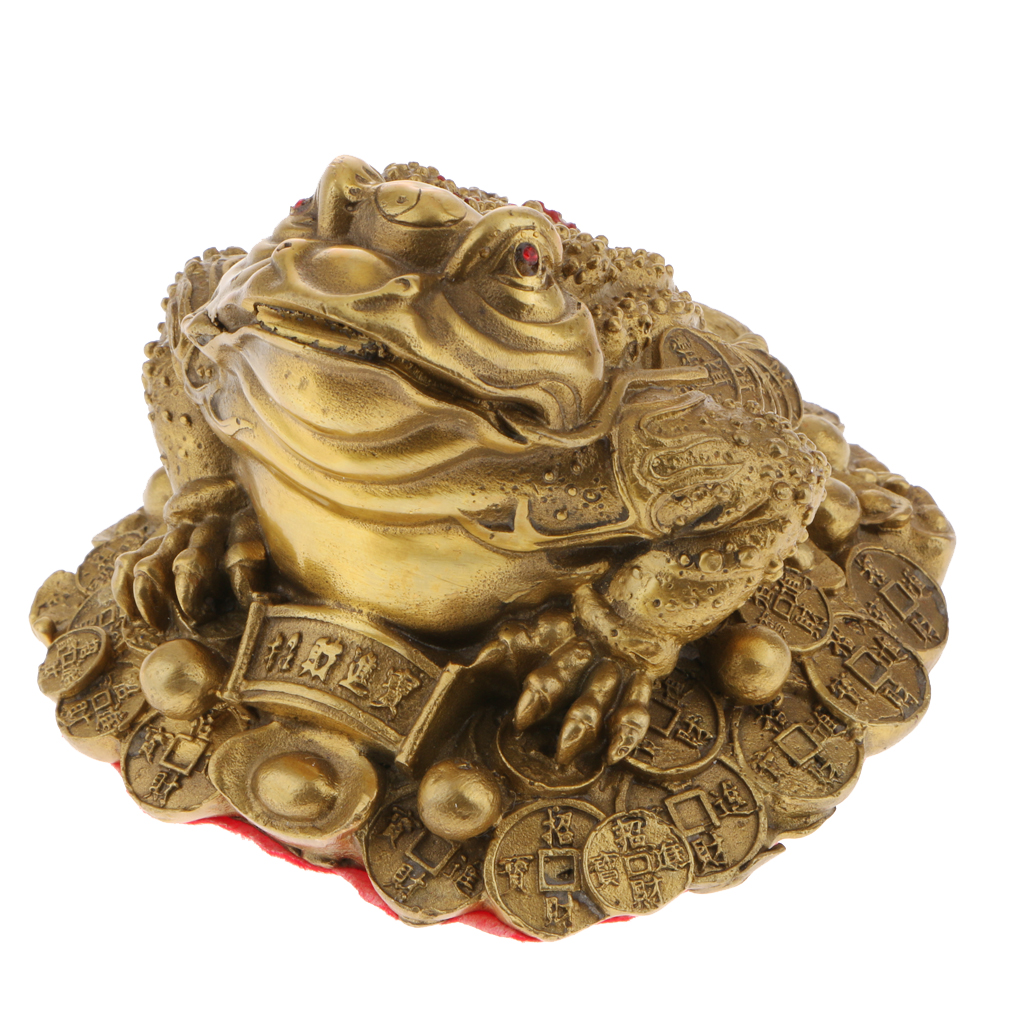 Chinese Traditional Feng Shui Money Frog Toad Coin Ornaments Home Office Decoration Sculpture Lucky Wealth Gift