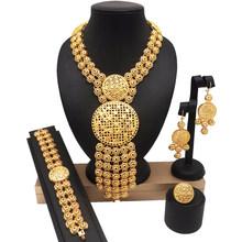 דובאי זהב תכשיטי סטי נשים שרשרת אופנה תכשיטי סטי נשים שרשרת 24k זהב חדש עיצוב שרשרת(China)