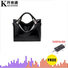 100% hakiki deri kadın çanta 2019 yeni rahat bayan çanta gövde Tote marka büyük omuzdan askili çanta inek derisi anahtarlık çanta(China)