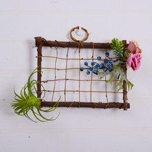 Прямоугольник венок украшения свадебные двери украшения лес Моделирование цветы настенные украшения стены сад(Китай)