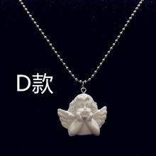 Śliczny amorek anioł wisiorek ze stali nierdzewnej naszyjnik ze stali, długi łańcuszek dziecko kształtowana biżuteria kochanie dla kobiet mężczyzna przyjaźń dziewczyna prezenty(China)