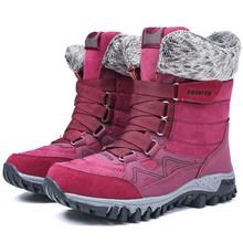 ERNESTNM Vrouwen Snowboots HOT Warme Korte Bont Pluche Winter Enkellaars Platform Dames Suède Elastische Schoenen Vrouwelijke Zapatos De mujer(China)