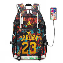 Bolsa para ordenador portátil con mochila luminosa para jugador de baloncesto(China)