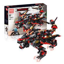 Rc blocos de construção dinobot batalha dragão congfu rei diy 2.4g 4ch controle infravermelho montado crianças brinquedos animais remoto(China)