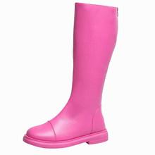 Nefes Bahar Süper Sıcak Satış Yaz Çizmeler 2019 Şık Şeker Renk Günlük Ayakkabı Kadın Açık Geri Fermuar Çizmeler Boyutu 35 -39(China)