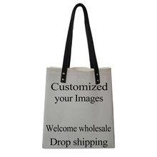 Forudesigns personalizar com sua imagem do logotipo mulheres compõem saco necessarie organizador de viagem para cosméticos saco impressão vaidade caso(China)