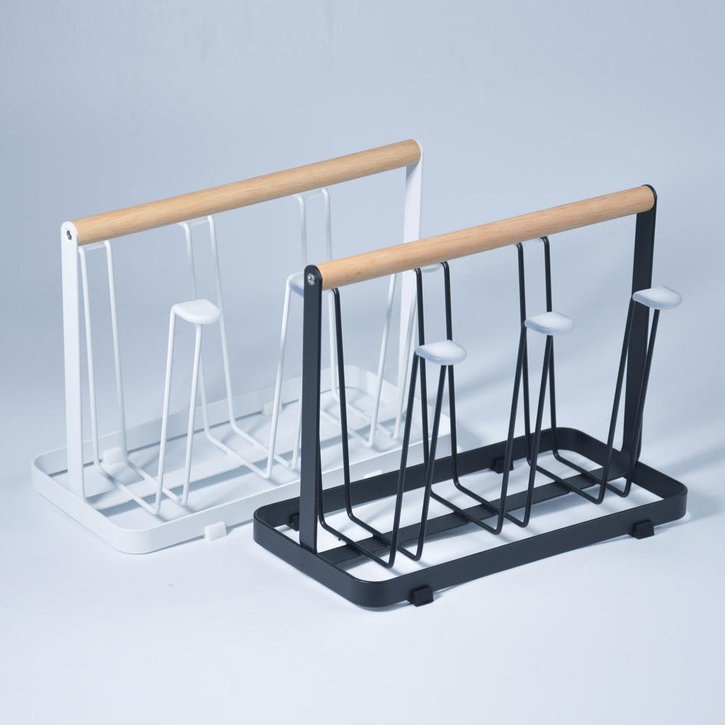 Metal Cup Dish Bottle Drying Rack Stand, Rectangular Cup Mug Organizer Drainer / Kitchen Accessories Utensils Dryer