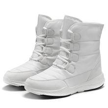 SKRENEDS Donne Stivali Da Neve Inverno Caldo Stivali di Spessore Inferiore Della Piattaforma Impermeabile Alla Caviglia Stivali Per Le Donne di Pelliccia di Spessore Scarpe di Cotone Formato(China)