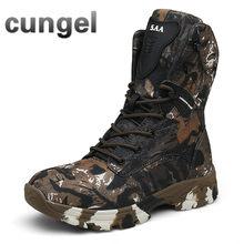 Cungel Outdoor Mannen wandelschoenen Woestijn trekking Laarzen voor Man wandelschoenen Mannelijke Training Laarzen Plus Size 47(China)