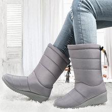 NEUE Frauen Stiefel Weibliche Winter Stiefel Wasserdichte Unten Mädchen Knöchel Schnee Stiefel Damen Schuhe Frau Warme Pelz Botas Mujer(China)
