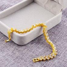 3 צבעים נשים צמידי אופנה רומי סגנון קריסטל צמידי 925 צמידי כסף עבור מתנות אבזרים(China)