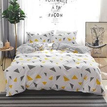 Yimeis Couple Bed Sheet Cotton Duvet Cover Korean Style Comforter Bedding Sets Us King BE47327(China)