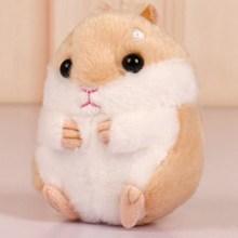 Bonito Pompom Fofo Mini Hamster Chaveiro Saco Chaveiro Carro Chaveiros Chaveiros Linda Boneca de Pelúcia Hamster Hamster(China)