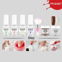 ROSALIND poudre de trempage paillettes Gel ongles naturel sec Chrome Pigment Nail Art poussière holographique poudre ensemble pour Gel vernis manucure(China)
