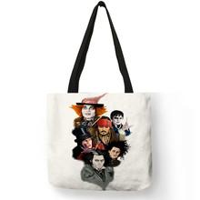 B01113 personalizado impressão sacola de compras bolsas femininas famoso filme charcters assassinos assassinatos impresso tote casual sacos de ombro(China)
