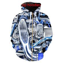 محرك السيارة ثلاثية الأبعاد طباعة سترات/تي شيرت/بلوزات/أغطية رأس بسحاب/قصير/بنطلون موضة الرجال Harajuku مضحك الشارع هدية صديقها(China)