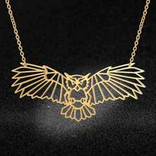 Unique Animal Jewelry Necklaces for Women 100% Stainless Steel Super Fashion Butterfly Owl Beetle Pendant Necklace Special Gift(China)