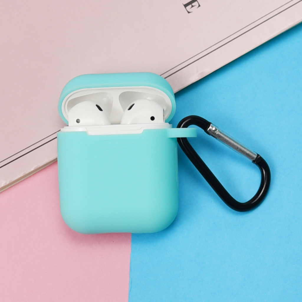 Full Protective Case Cover For Portable Silicone Skin with Keychain Cover for Apple Earphone Charging Case 2019 New High Quality