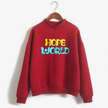 A esperança do mundo bangtan kpop bangtan moletom amar a si mesmo moletom harajuku das Mulheres camisola Unisex(China)