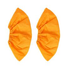 1 paar Thicken Herbruikbare Elastische Schoen Covers Thuis Indoor Anti-slip Overschoenen Studenten niet-geweven Effen Kleur Stof proof Voeten Cover(China)
