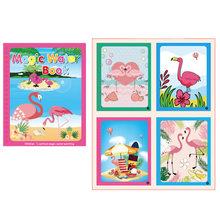 20 estilos de agua mágica libro de dibujo Montessori libro de colorear dibujo mágico y bolígrafo Tabla de dibujo de pintura para niños juguetes regalo de cumpleaños(China)