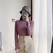 Wool Sweater New Fall Casual knitted Sweater women Turtleneck Slim Sweaters jumper Womens top winter sweater tricot pullover(China)