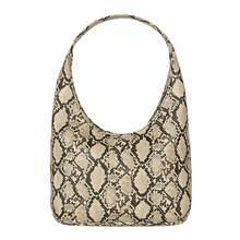 Lüks çanta kadın çanta tasarımcısı serpantin küçük kare Crossbody çanta vahşi kız yılan baskı omuz askılı çanta # H10(China)
