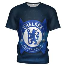Chelsea Fc 2018 2019 Voetbal Jersey 3d T-shirt Chelsea Training T-shirt Chelsea Gevaar Trainingspak Mannen/kids Voetbal shirt(China)