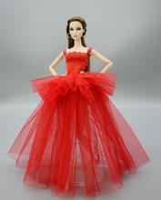 רך באיכות בובת שמלות רשמיות ללבוש שמלת טוטו בעבודת יד 29CM נסיכת 1/6 בובת כלה טול צבעים בוהקים חתונת שמלות(China)