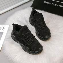 shoes Womens Sneakers Shoes 2018 Fashion Woman-shoes Women's Heels Platform Designer Woman's Thick Summer Med Flock Riband(China)