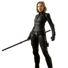 Infinito Guerra do filme Avengers Super hero SHFiguarts Natasha Romanoff Black Widow Figura de Ação de uma peça Modelo Boneca de Brinquedo Jogo Do Presente(China)