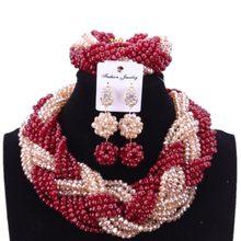 Modische Schwarz Erklärung Afrikanischen Nigerian Halskette Set Braut frauen Perlen Schmuck Set Dubai Kostüm Indischen Schmuck-Set(China)