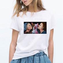 LUCKYROLL Coreano Kawaii Vaca PLZ BEBER LEITE DE SOJA Vegan Vogue Das Mulheres T-shirt de Manga Curta Pequeno Fresco Tops Casuais(China)