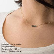 E-Manco Hợp Thời Trang Đa Lớp thép không gỉ Vòng đeo cổ cho nữ Choker Vòng cổ mặt dây chuyền Pha Lê Vòng cổ trang sức(China)