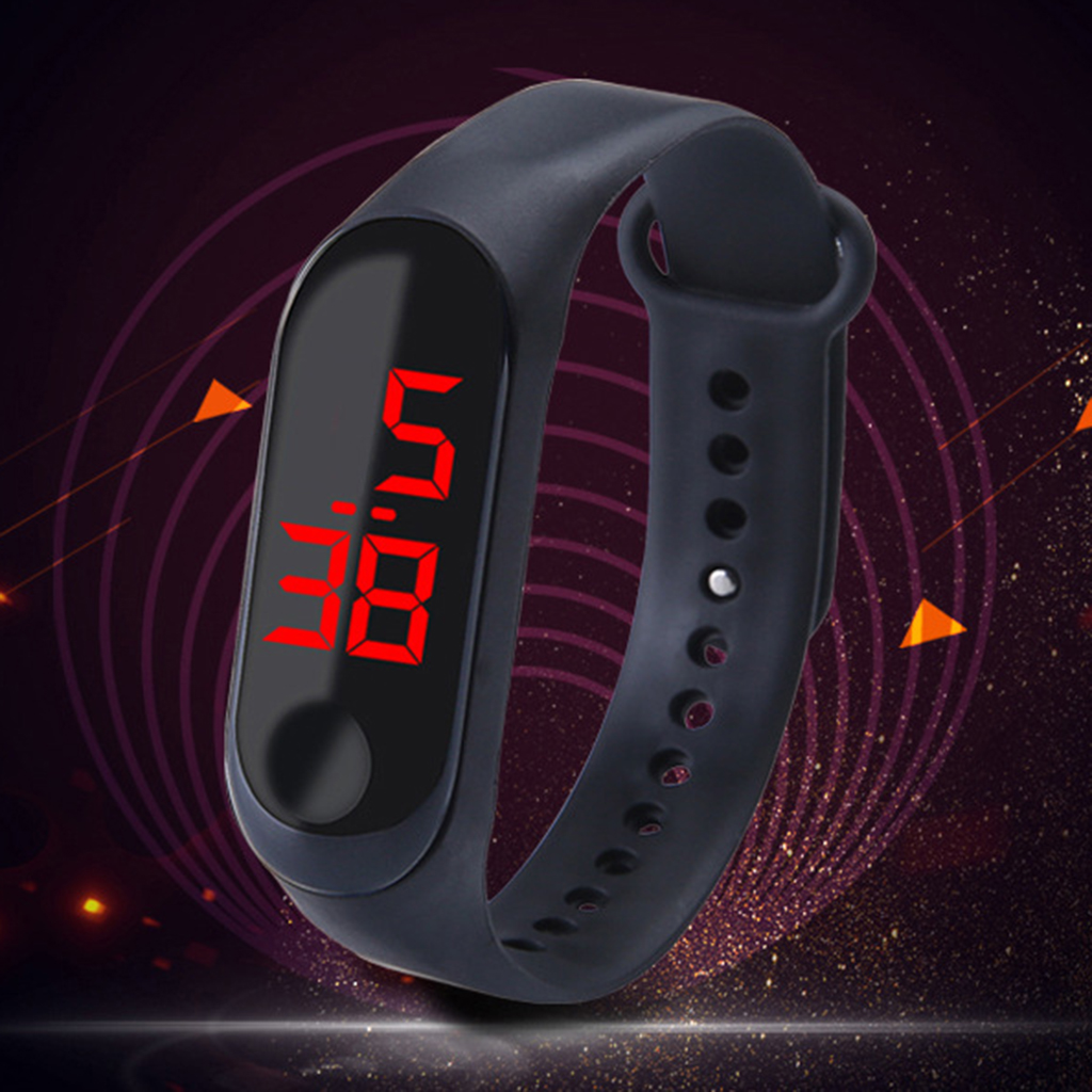 LED Digital Watch Touch Screen Silicone Smart Wristwatch Bracelet Newest Arrival