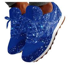 Kış ayakkabı kadın moda rahat nefes kristal Bling Lace Up spor ayakkabılar platformu Sneakers isıtıcı yürüyüş kar botları(China)