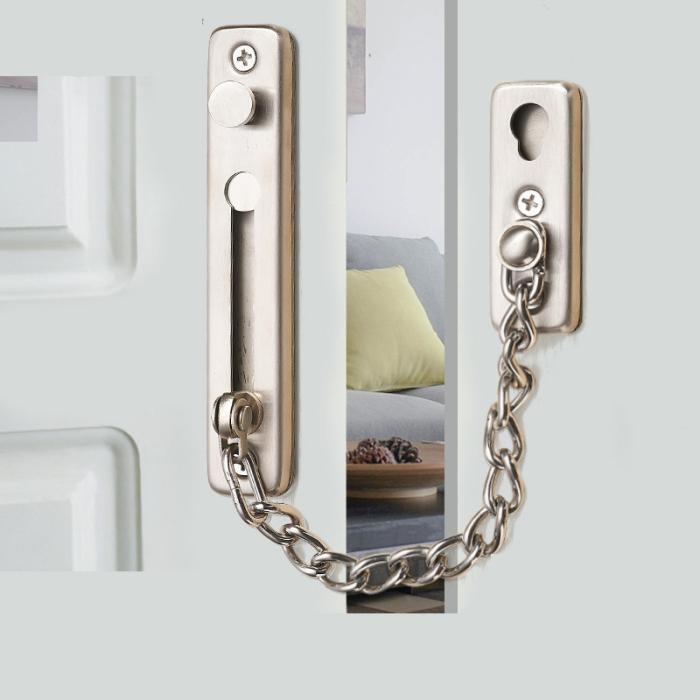 Securit Pestillo Cerrojo cl/ásico con cadena para puerta