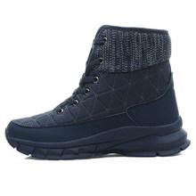 STQ Frauen Plüsch Stiefeletten Warme Schnee Stiefel Schuhe Damen Winter Turnschuhe Stiefel Bequeme Schuhe Frauen Keile Schwarz Stiefel 930(China)