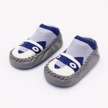 2019 г. Модные детские носочки с резиновой подошвой, носки для младенцев осенне-зимние детские носки-тапочки для новорожденных нескользящие н...(China)
